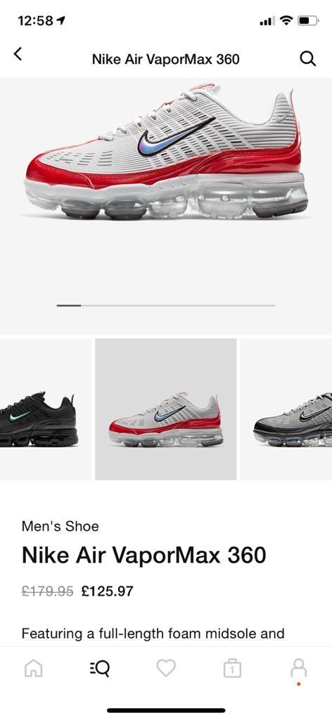 Nike vapormax 360 size 7.5