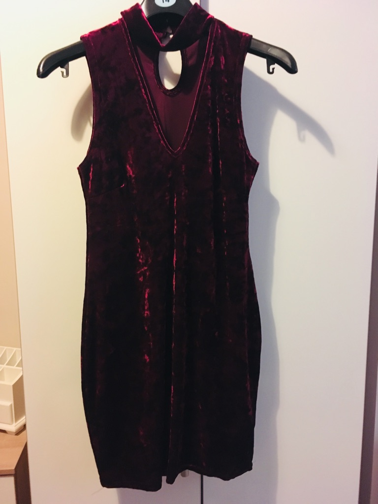 Velvet mini choker dress brand new and never worn (without tags)