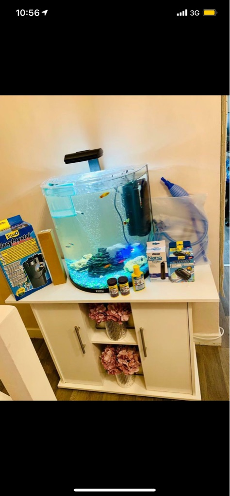 Fish tank , jewel cabinet & accessories