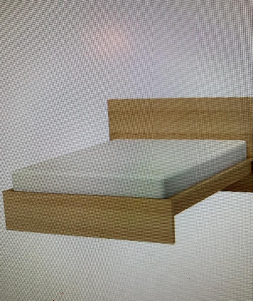 Ikea Malm Oak Vaneer Bed frame