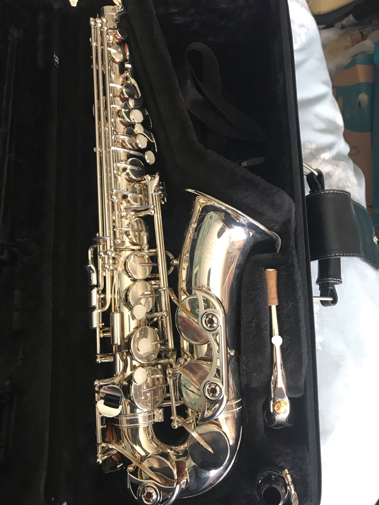 Yamaha YAS-62S Alto saxophone silver with original case, sling & cleaning materials