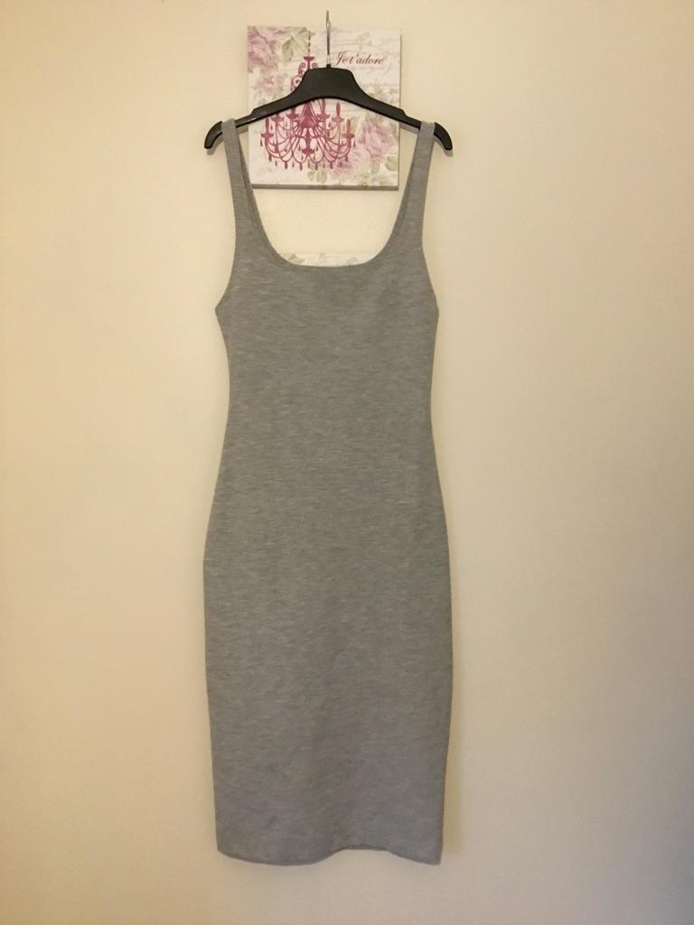 Zara grey, body slim dress