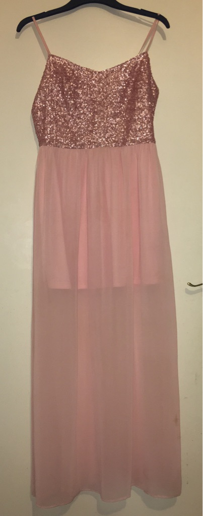 Pink part sparkly dress