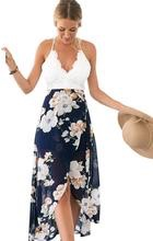 Blooming jelly deep v back top with flower print dress