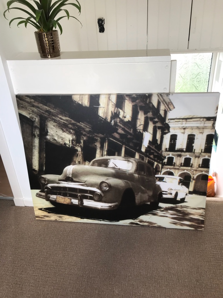 Large Car canvas