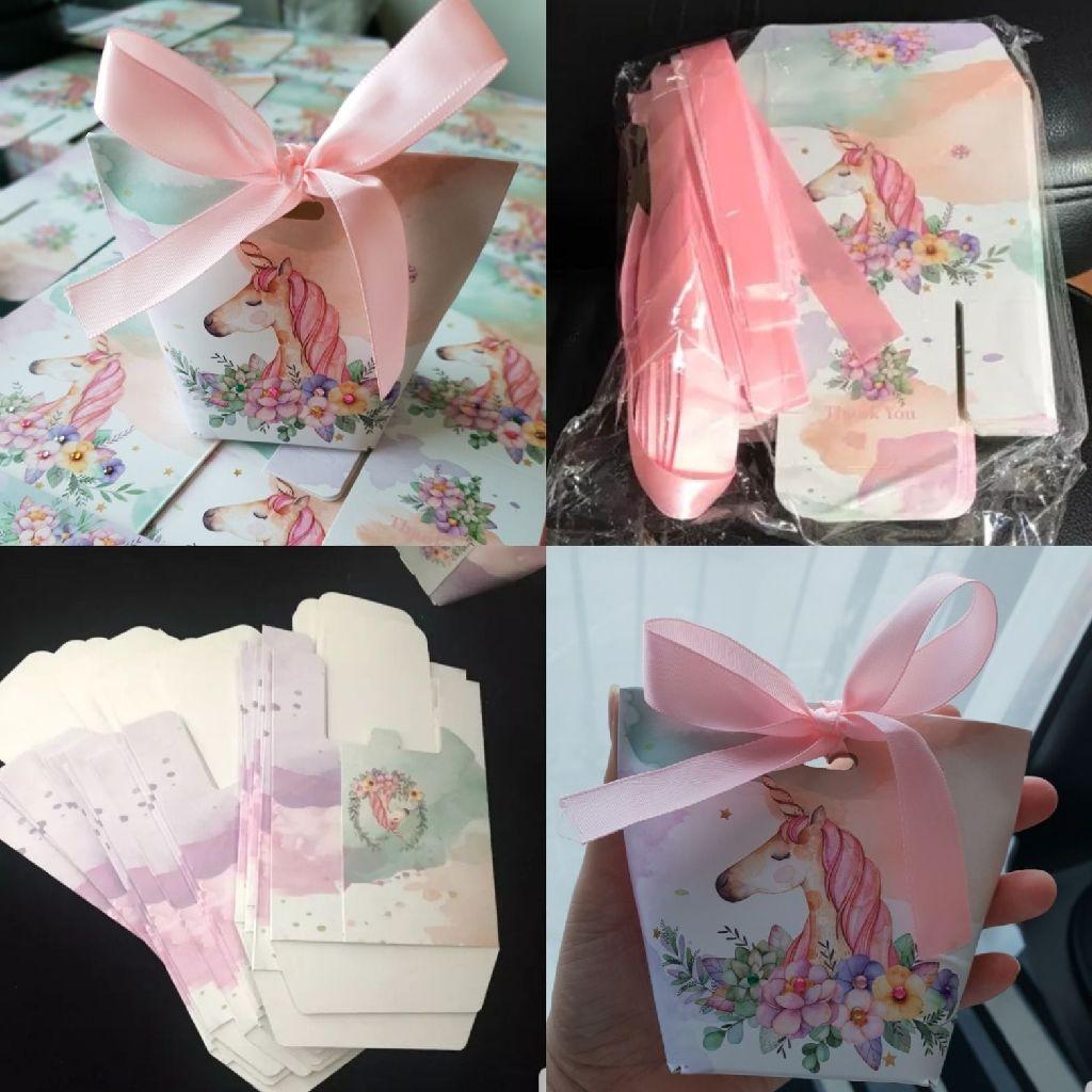 10 unicorn design party/favour boxes