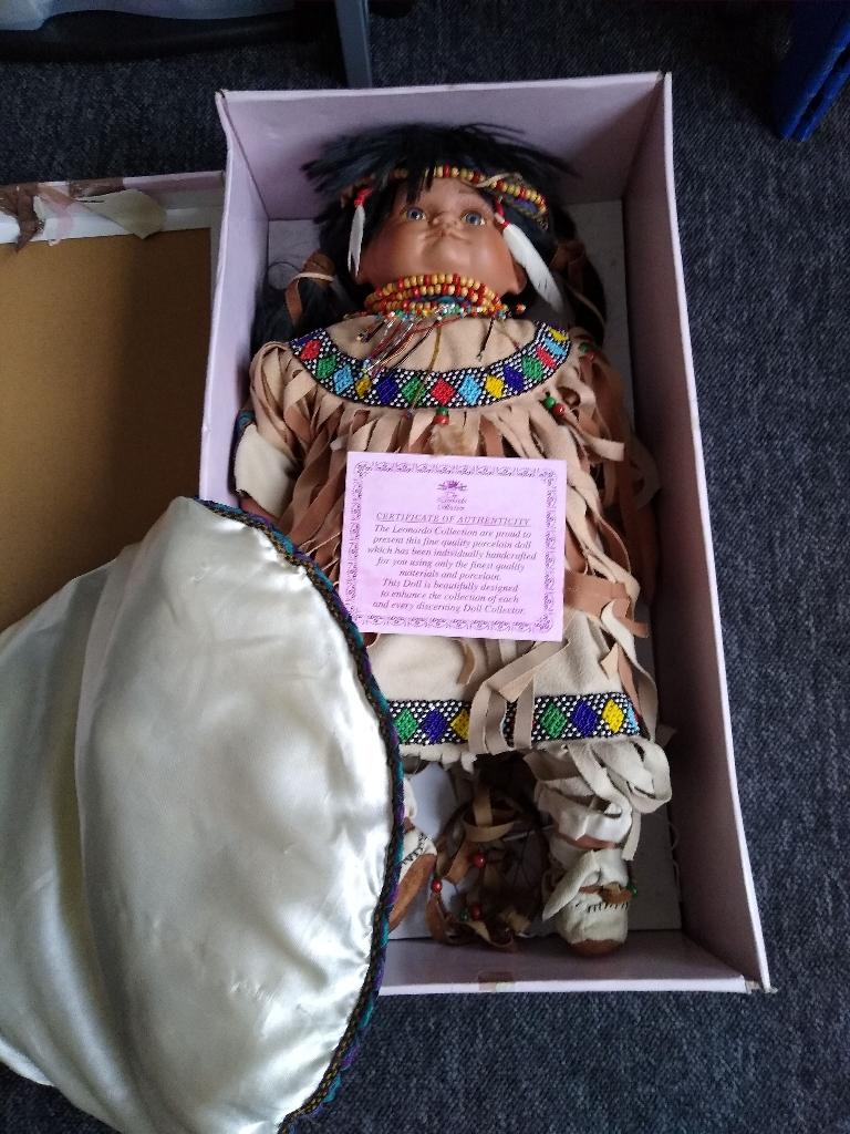 Porcelain doll Indian