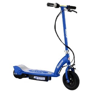 Blue razor electric scooter