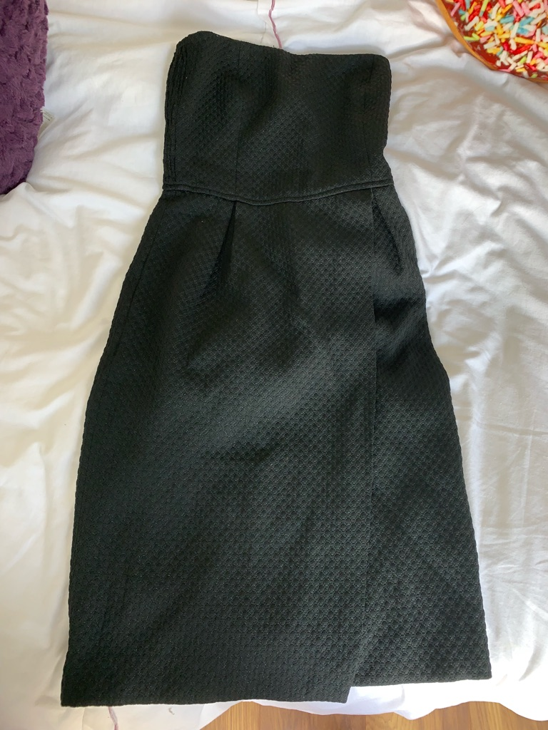 Black strapless dress (size XS) (Zara Basics)