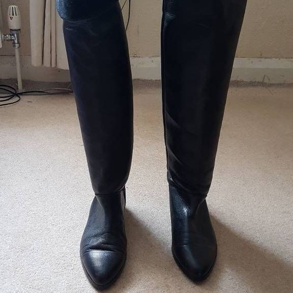 Real leather long boots new