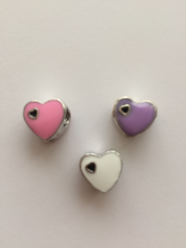 Lovely heart charms fit pandora bracelet