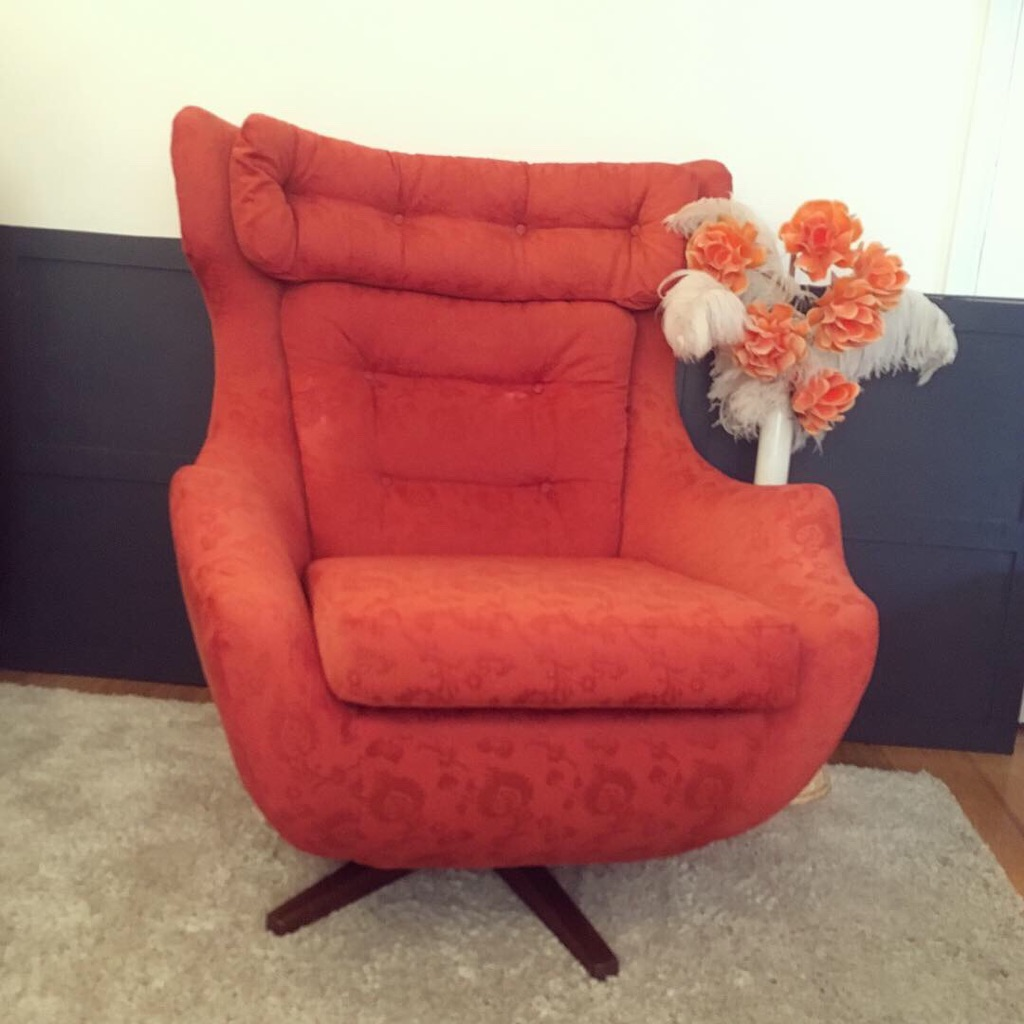 Mid Century Parker Knoll Swivel Chair