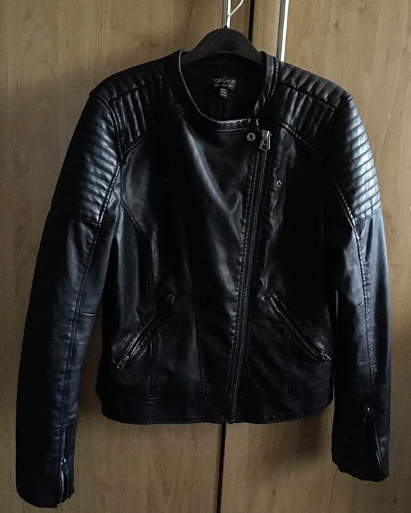 Faux Leather Jacket Topshop Size 14