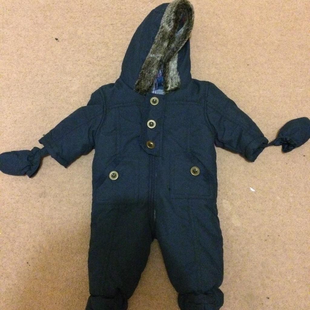 Baby boys snowsuit 0-3 months