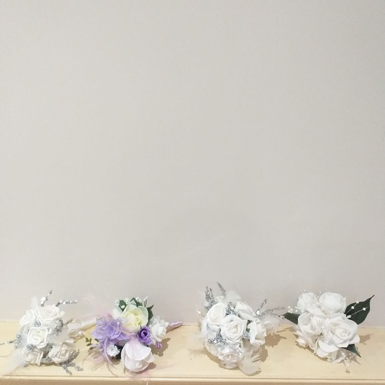 Selection of bridesmaids posies