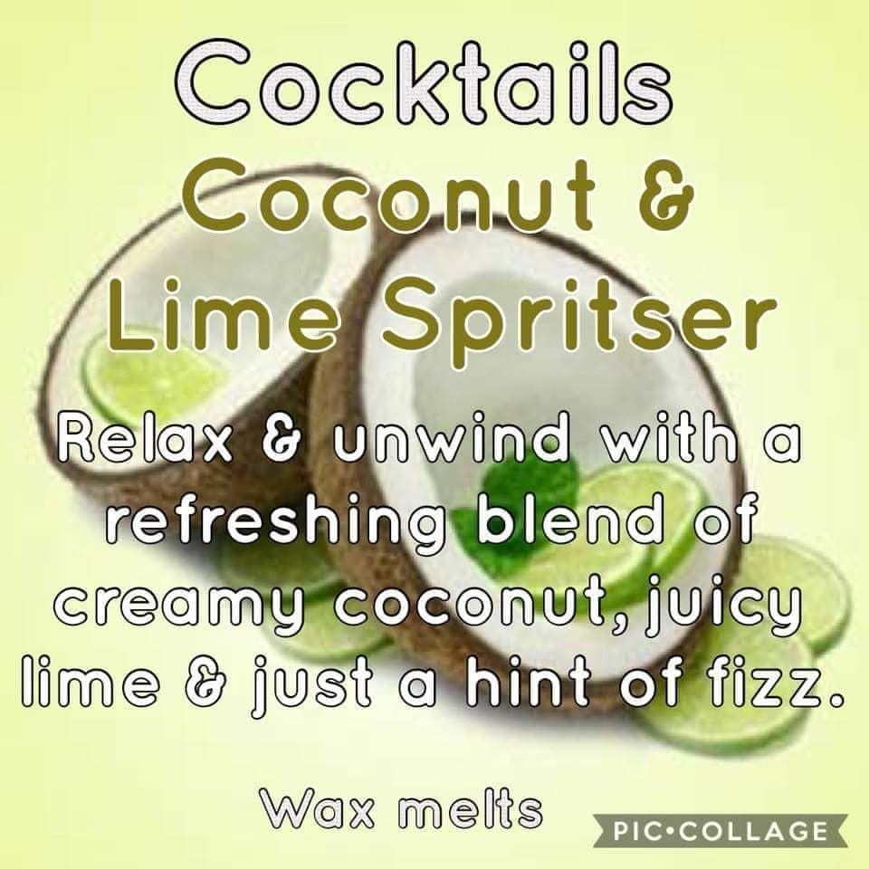 Cocktail Scented Wax Melts.