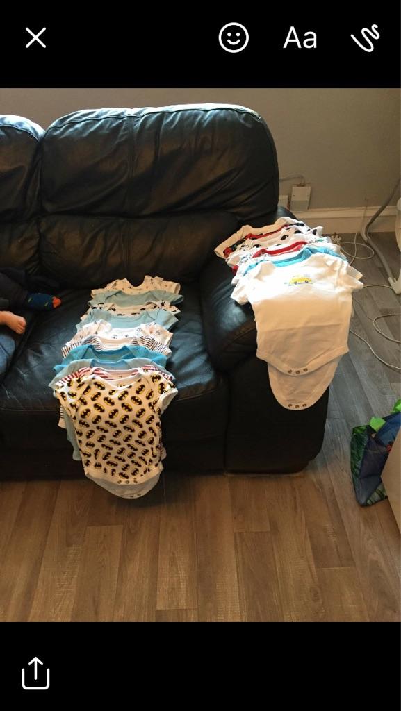 36 baby boy vests 3-6 months