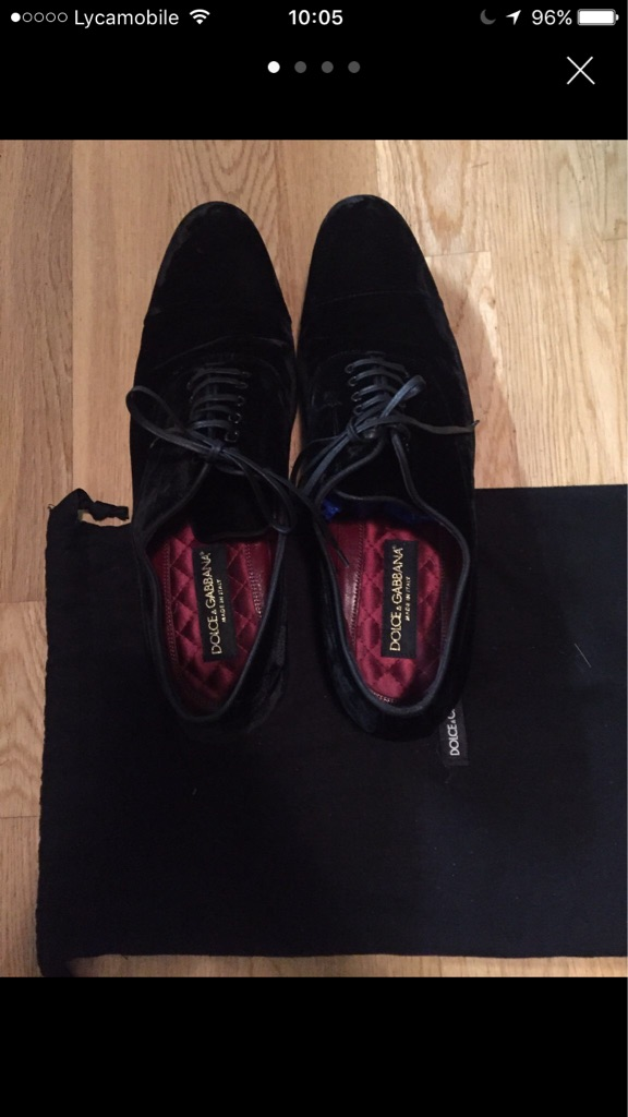 Dolce&gabbana Velvet Shoes