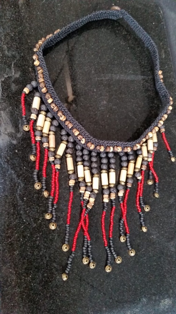 Handmade beaded native american style necklace