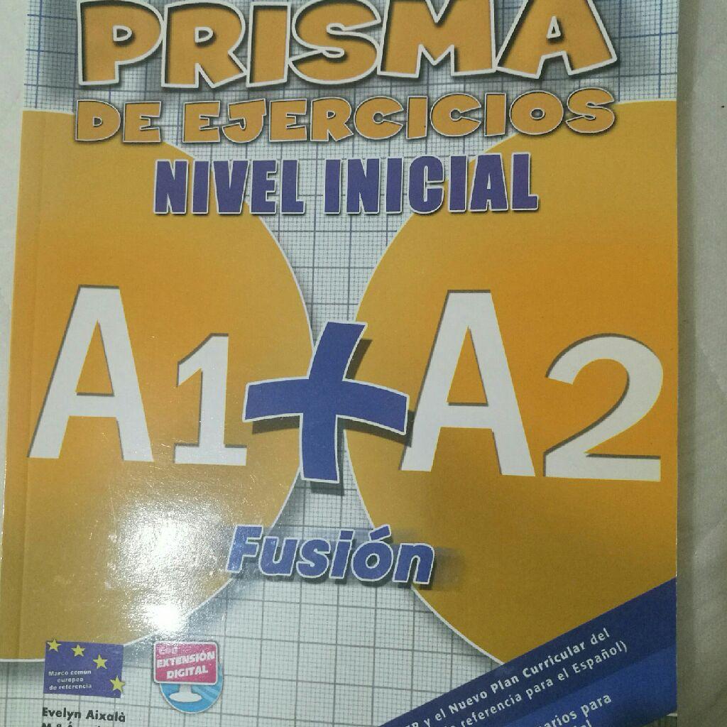 Spanish exercise book prisma fusion A1+A2