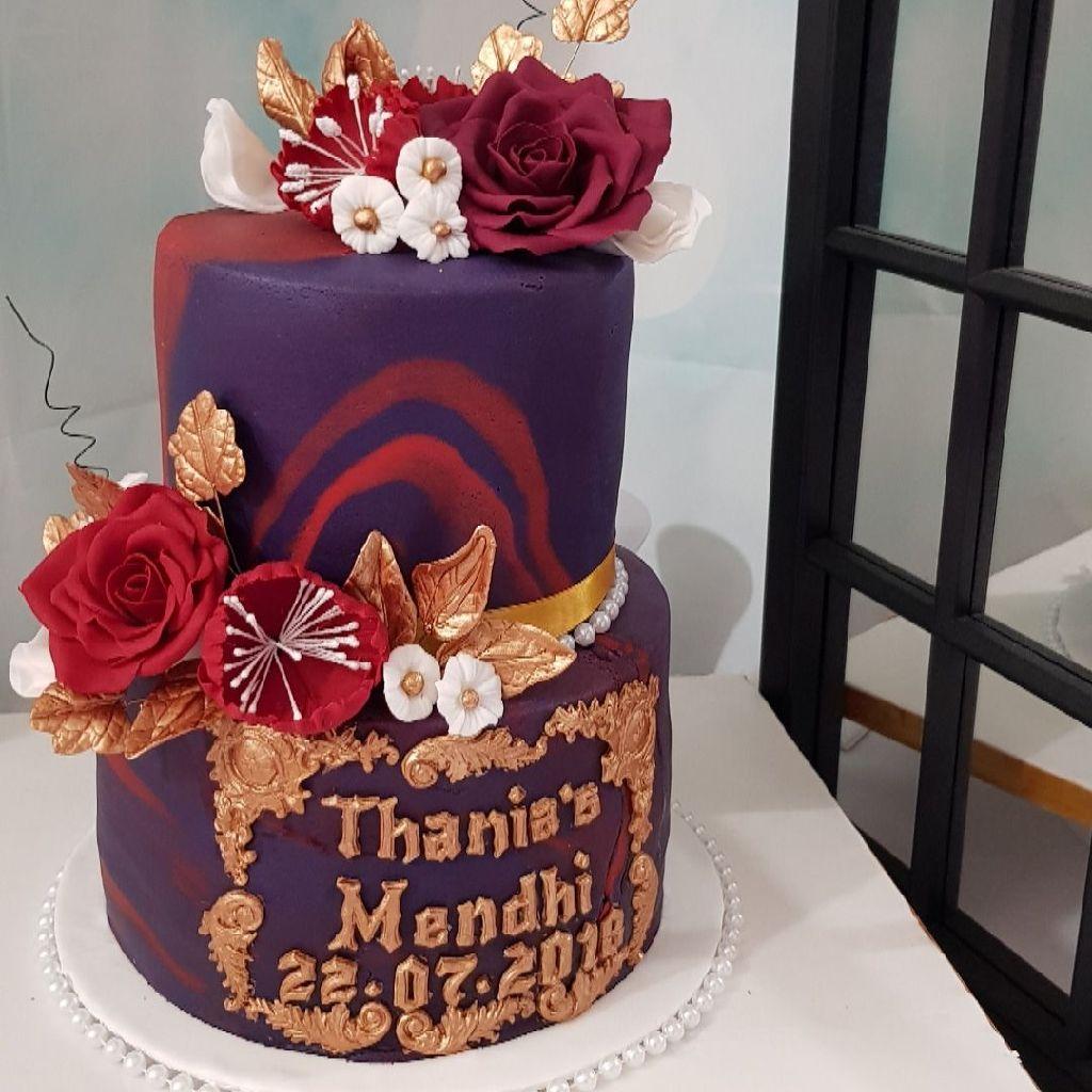 Marble Mehndi cake
