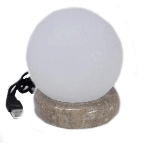 Quality USB ball white salt lamp