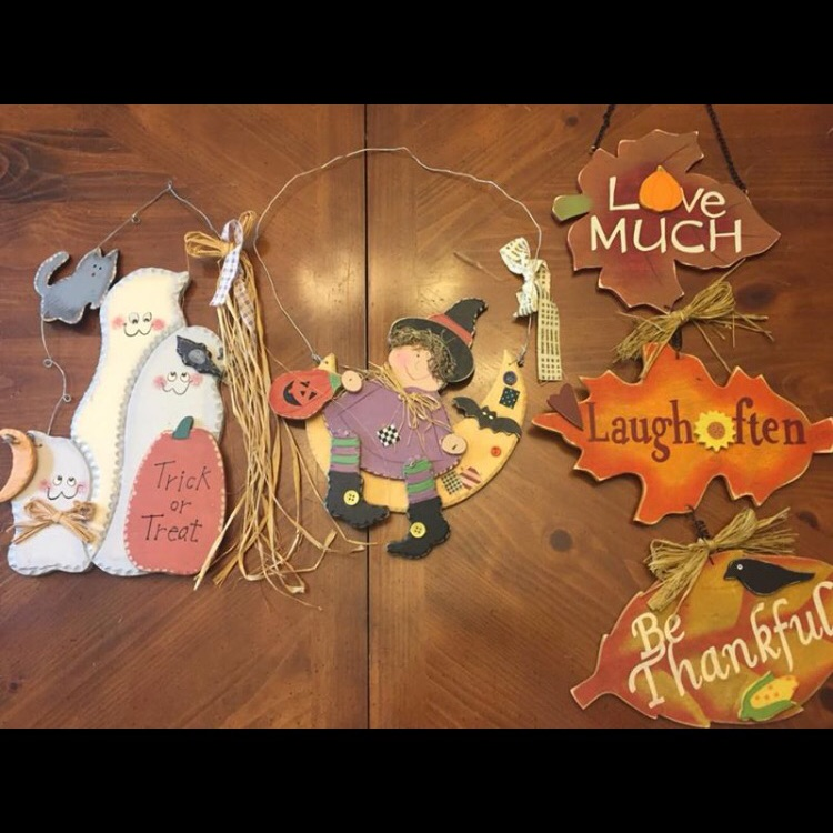 Halloween and Fall wooden decor