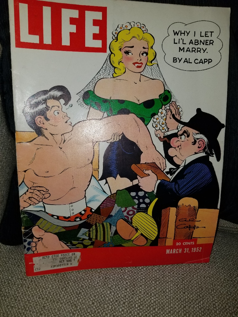 LIFE MAGAZINE MARCH 31, 1952  LIL ABNER ON COVER