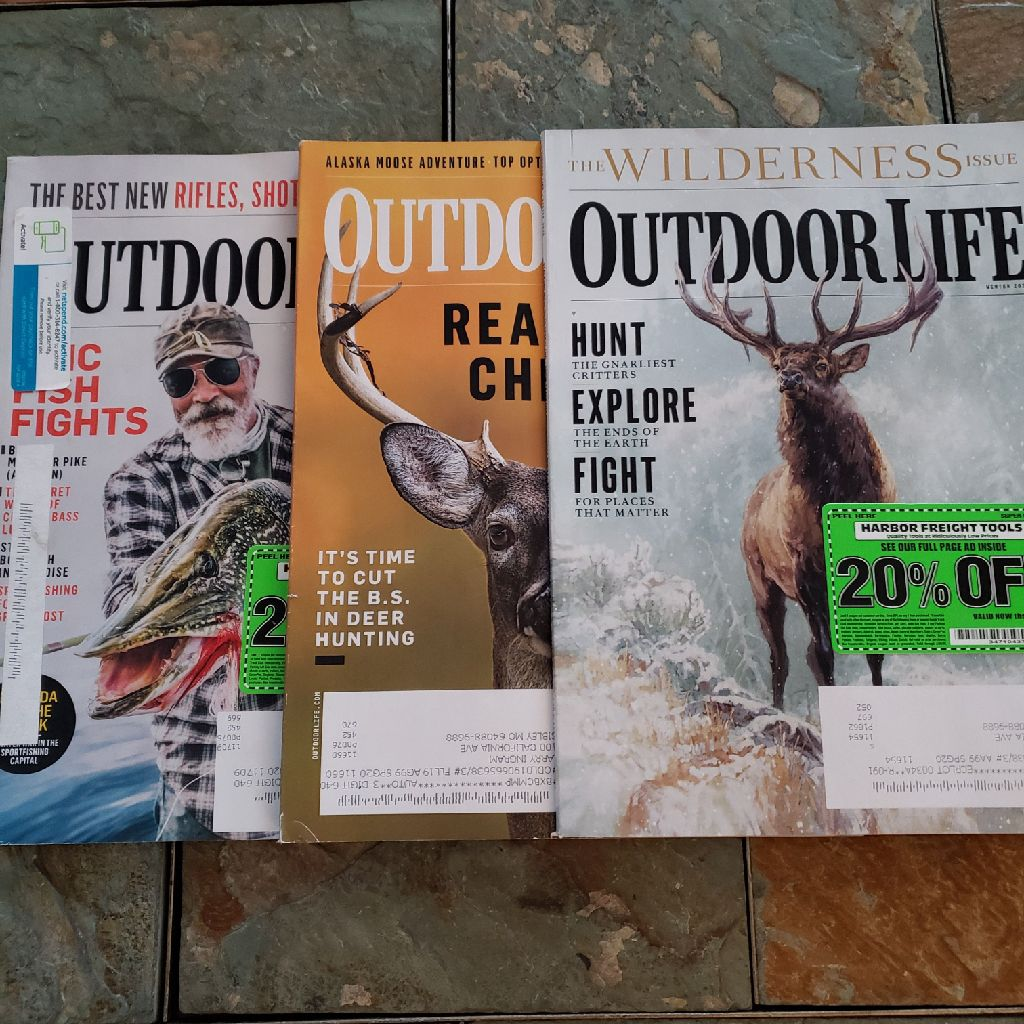 3 out door life magazines