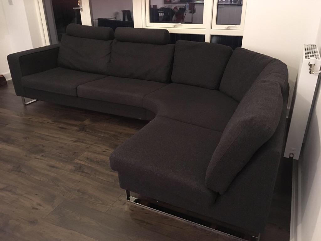 l shaped sofa for sale in excellent condition village. Black Bedroom Furniture Sets. Home Design Ideas