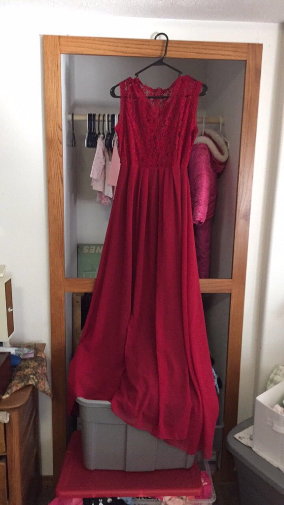 Red dress size large