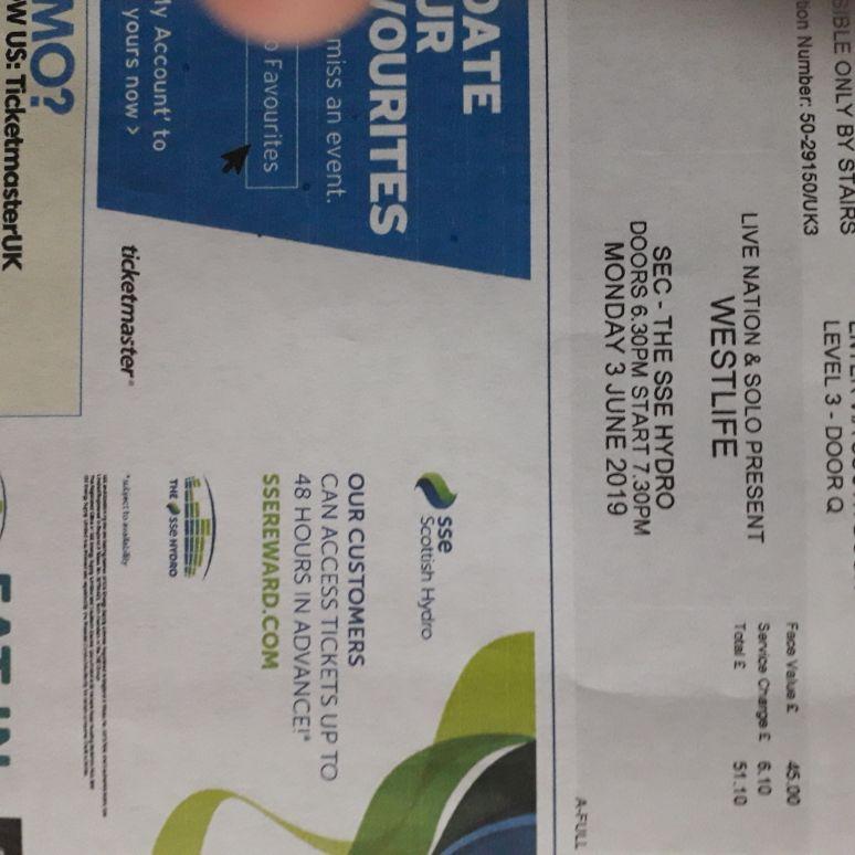 Westlife ticket
