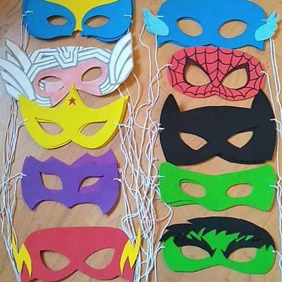 Superhero masks for kids party