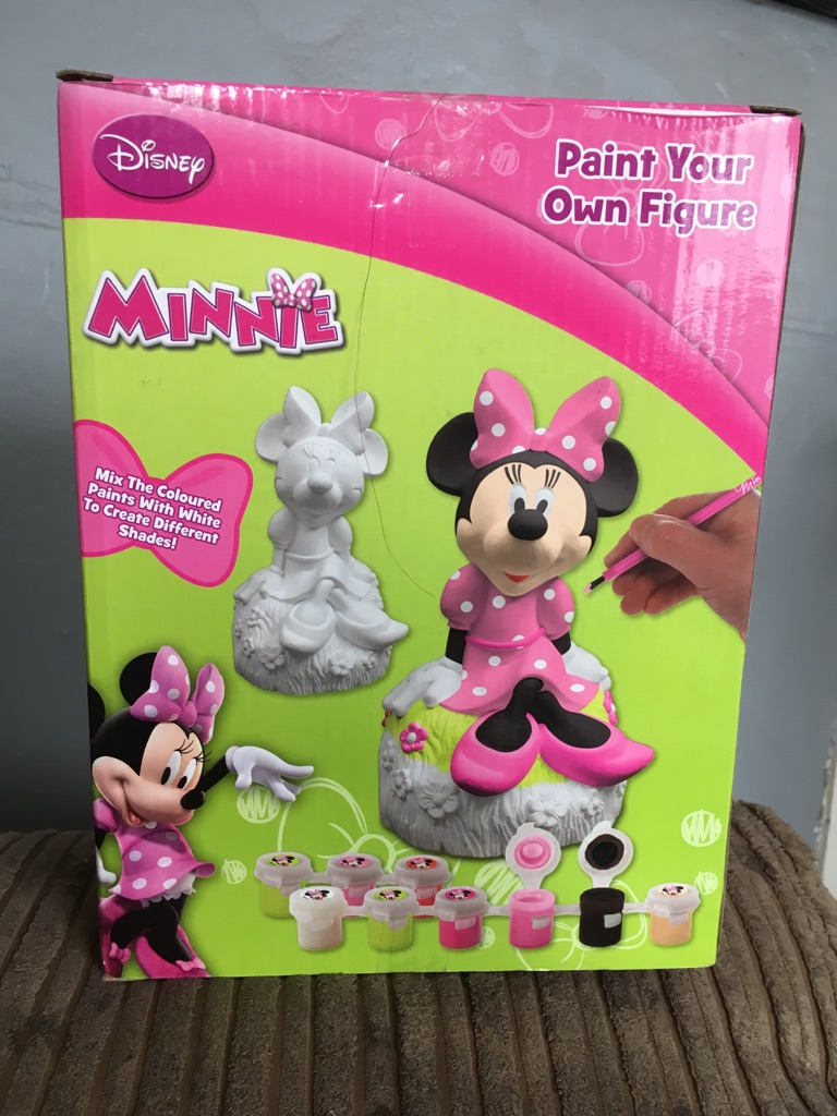 Paint your own Minnie Mouse figurine