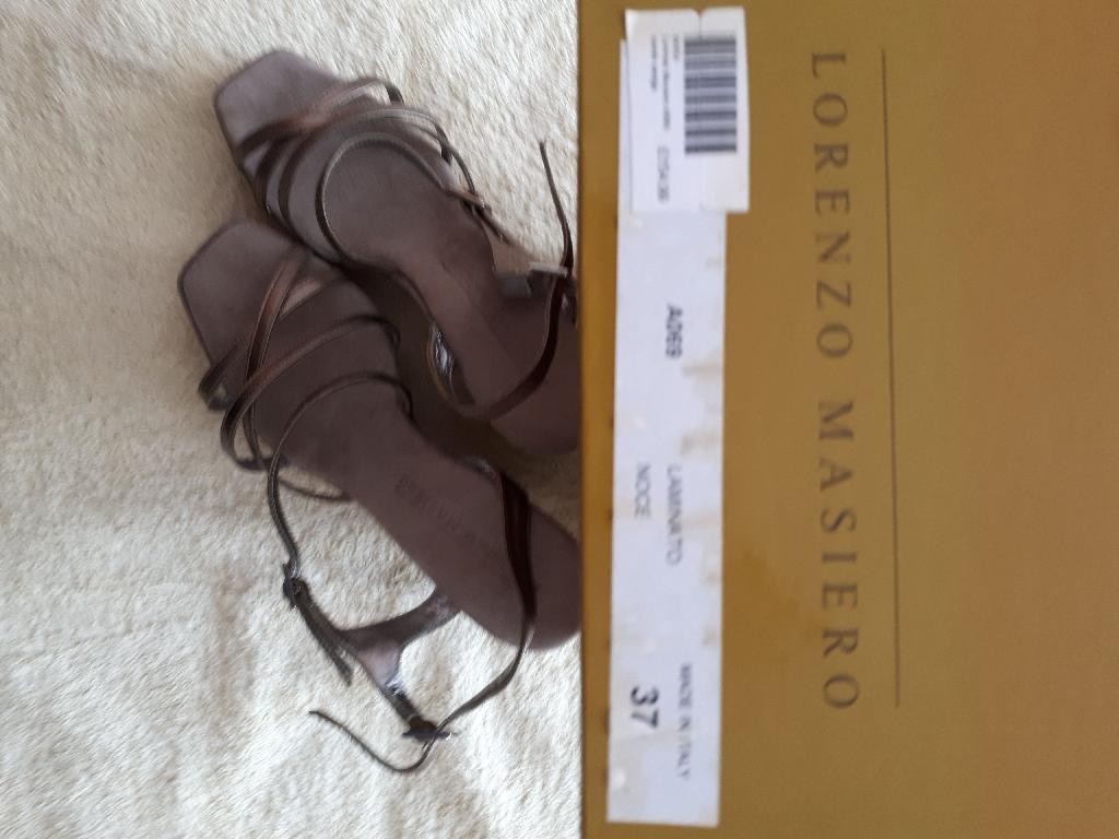 Designer leather sandal