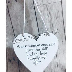 A wise woman plaque