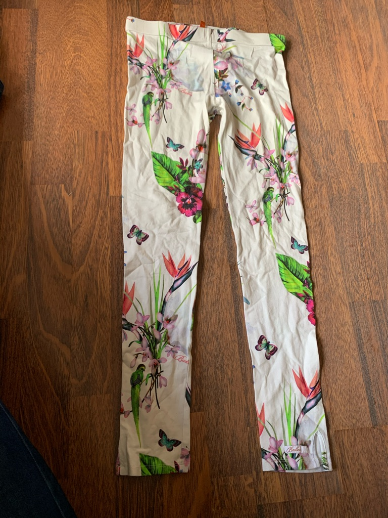 Yellow Ted Baker cold shoulder top and leggings 13 years