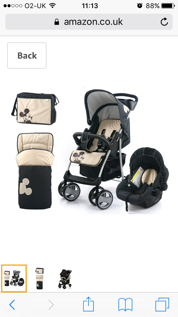 Hauk Micky mouse pushchair