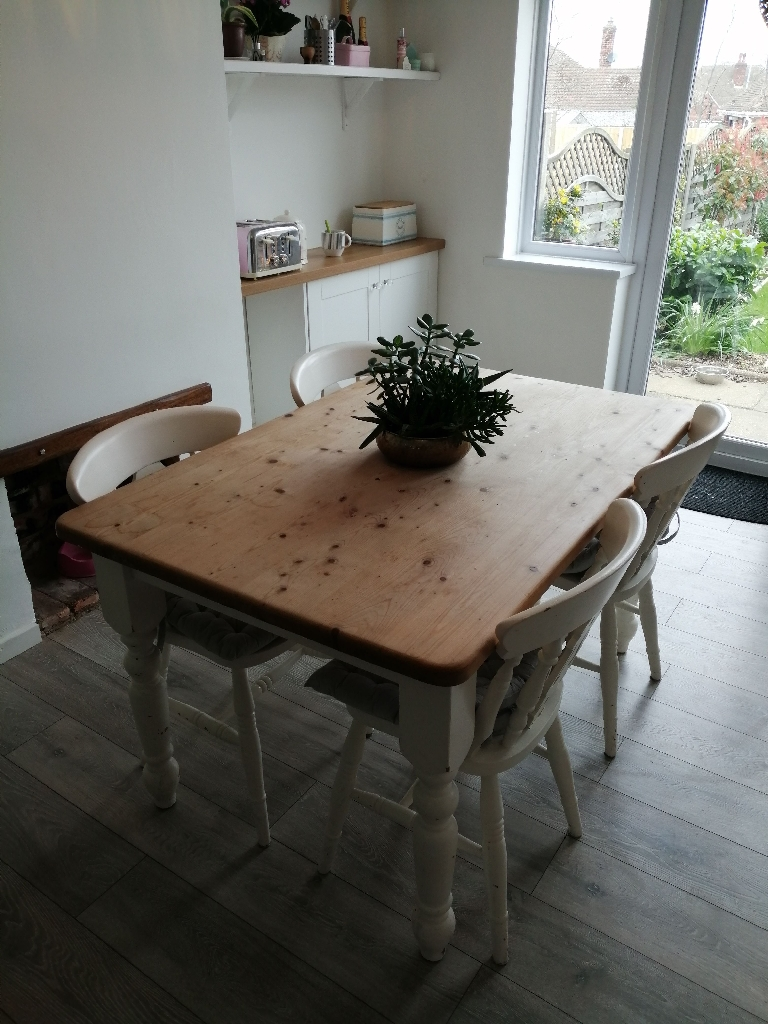 Shabby chic 6 seater table 4 chairs country living