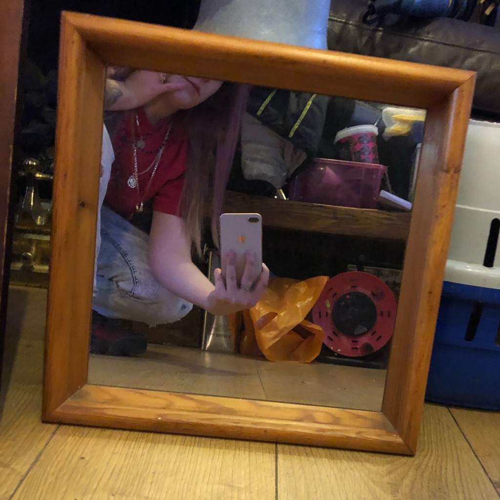 Light brown mirror