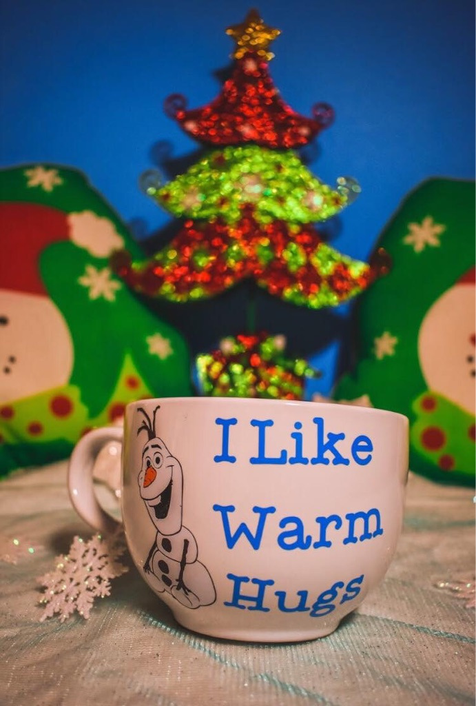 Custom Made Olaf I Like Warm Hugs Mug