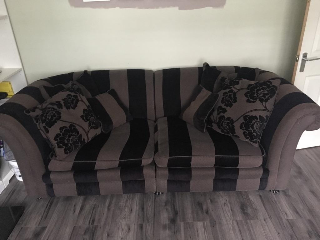 DFS sofas 3 & 4 seater