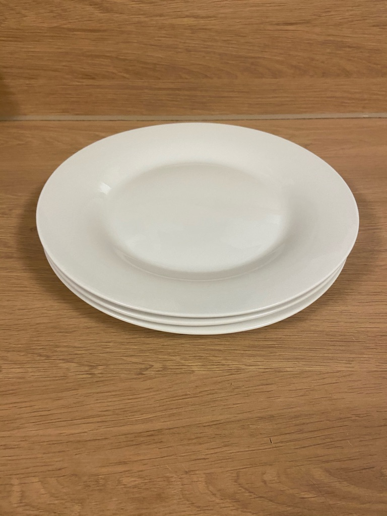 White/Beige big plate/s (individual or pack of 3)