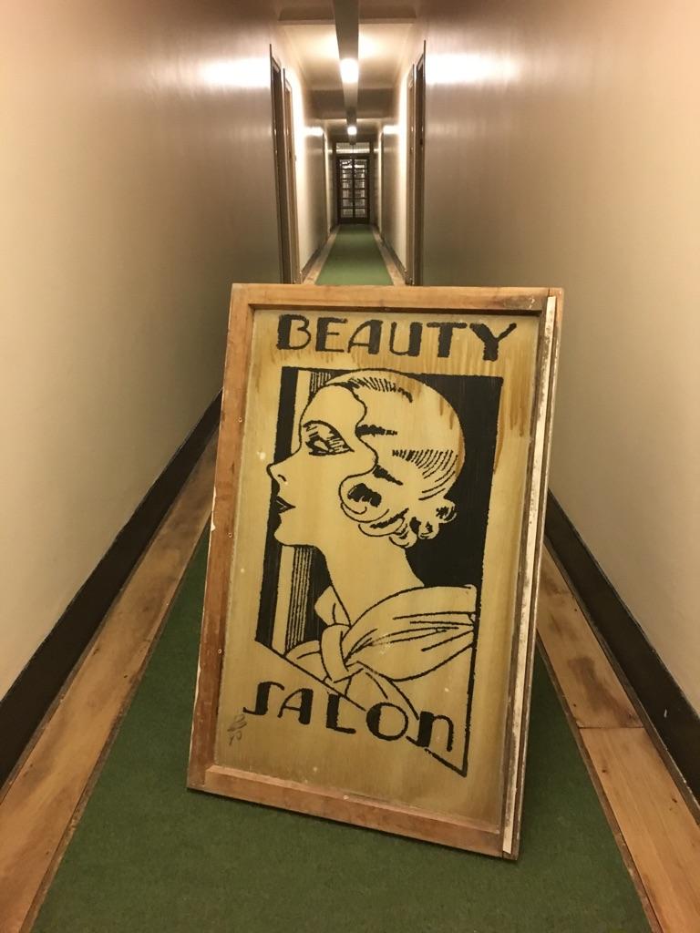 Amazing Vintage 1930 Art Deco Beauty Salon Sign