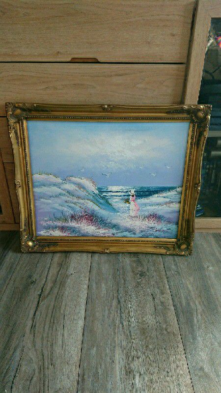 Oil painting on canvas signed