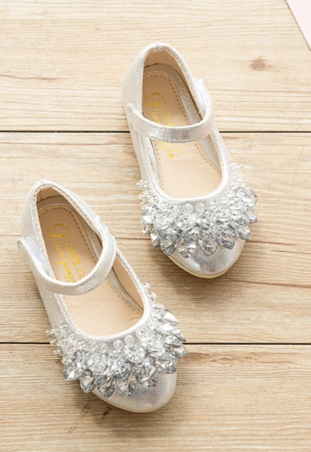 Brand new girls silver shoes EU 34