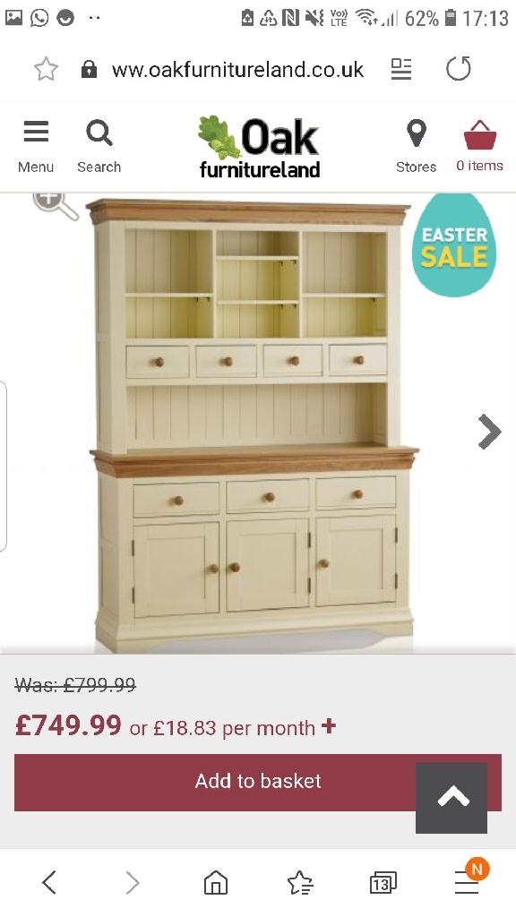 Beautiful painted oak dresser