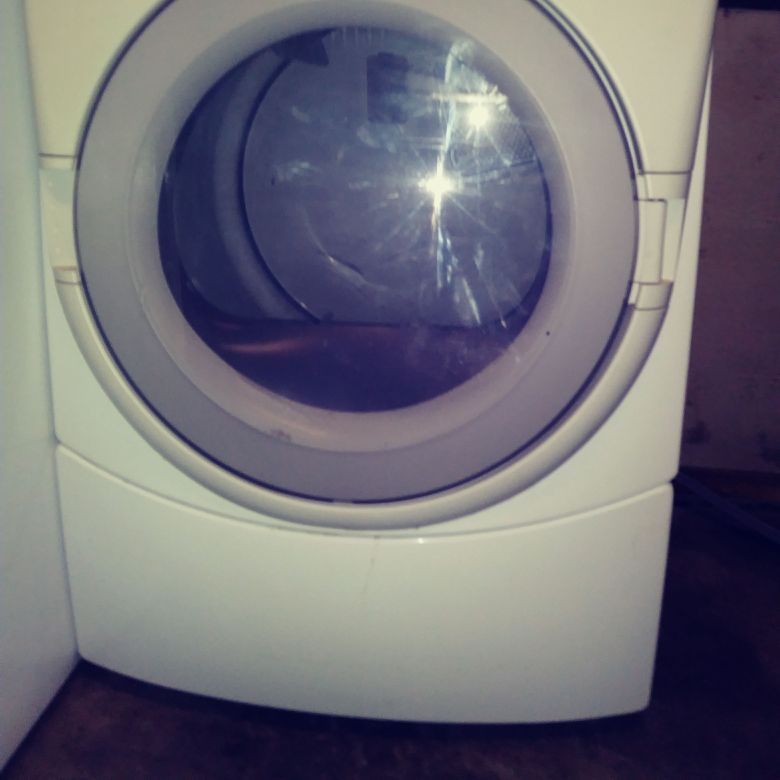 White whirlpool front load dryer