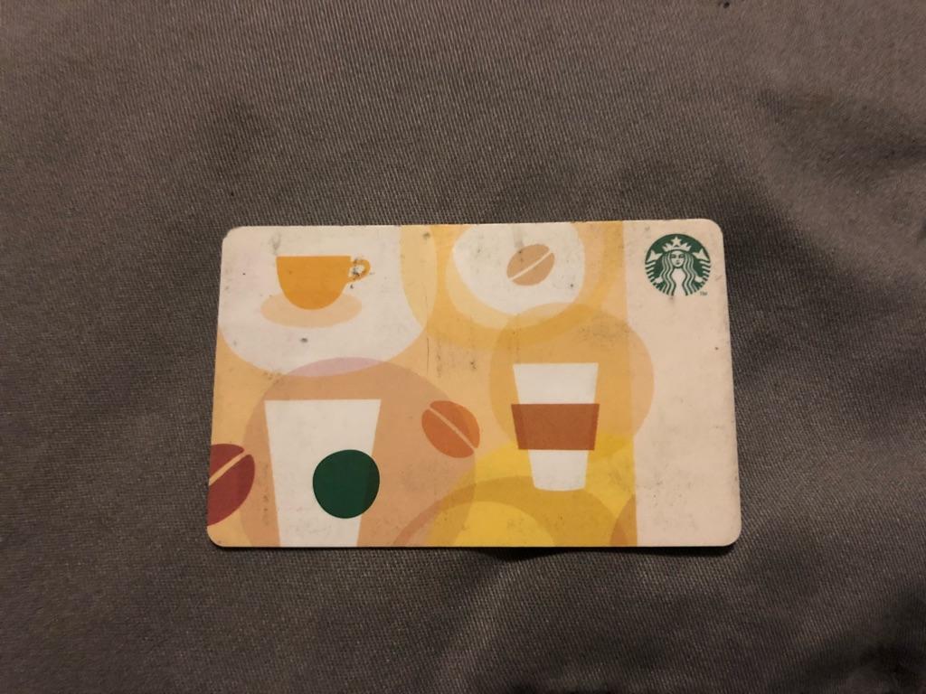 Giftcard for Starbucks full value $203.95