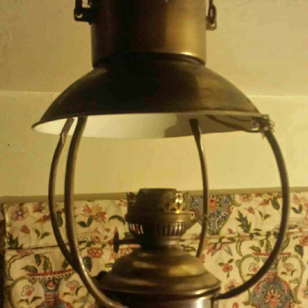 Vintage brass light